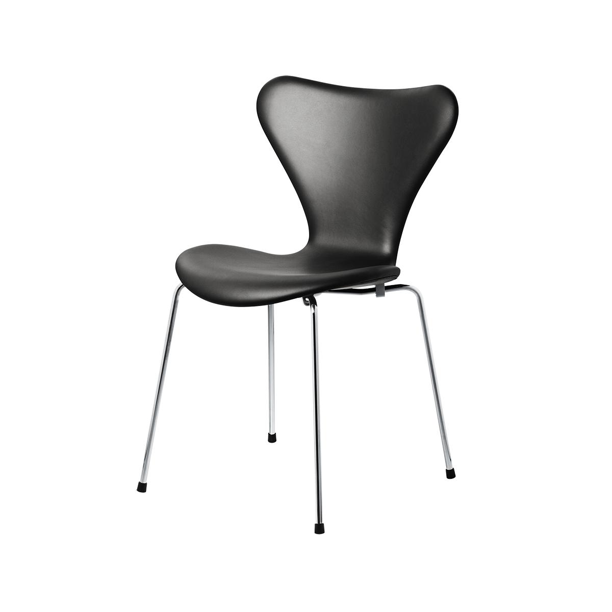 Fantastisk 3107 Stol, Fuldpolstret Sort Basic Læder - Spisebordsstole - Heile QU23