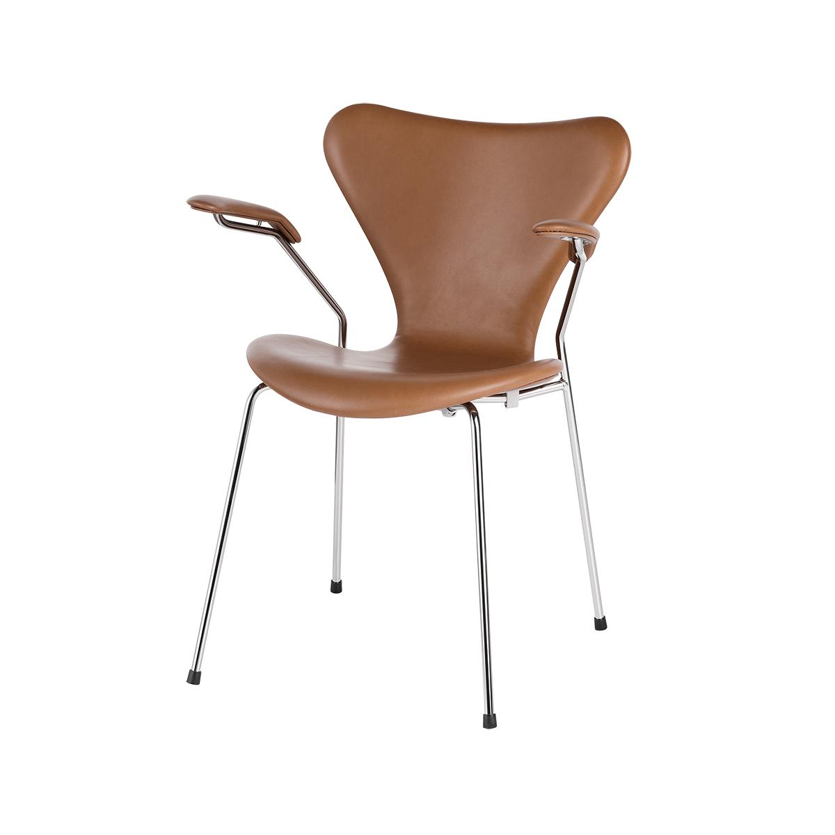 Alvorlig 3207 Armstol, Fuldpolstret Valnød Wild Læder - Spisebordsstole LS02