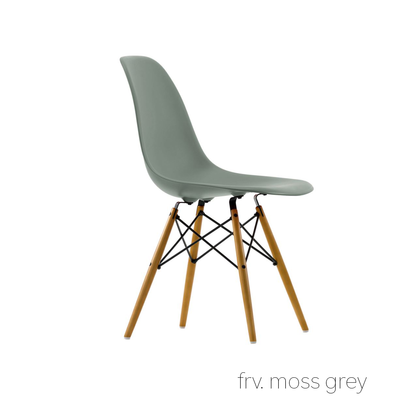 Eames Plastic Chair DSW, Ahorn